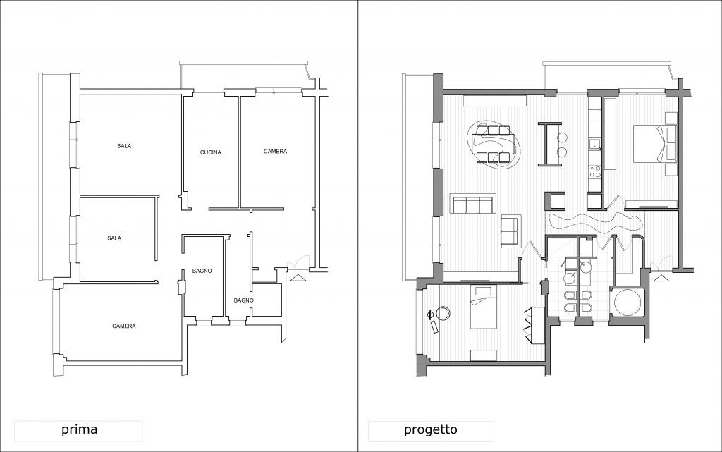 Appartamento dl genova 2013 bianchi bosoni architetti for Specifiche home plan